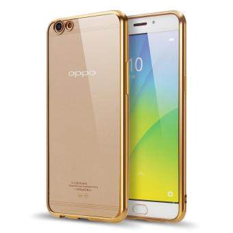 Harga HOECOGE Electroplated Mobile Phone Case For OPPO R9s Soft silicone Plating Protective Cover For OPPO R9s Shell