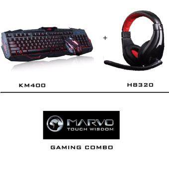 Harga MARVO GAMING SET COMBO : KM400 + H8320