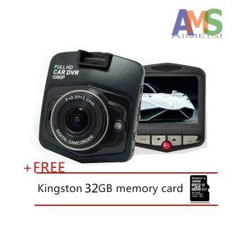 Harga AMS Mini Car DVR Camera GT300 Camcorder 1080P Full HD Video Registrator Parking Recorder G-sensor Dash Cam+Free 32gb memory carde_black