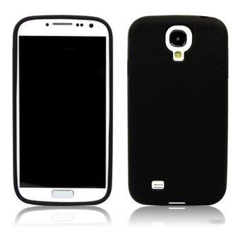 Harga Leegoal Black Silicone Soft Skin Gel Case Cover for Samsung Galaxy SIV S4 i9500