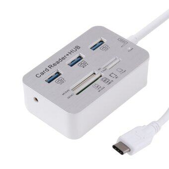 Harga 7 in 1 USB Type-C to USB 3.0 HUB Cable MS DUO M2 SD TF Card Reader HUB for Apple MacBook Air