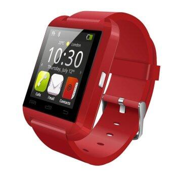Harga U8 Fashion Smart Watch Bluetooth Sport Android Phone Music (Red)