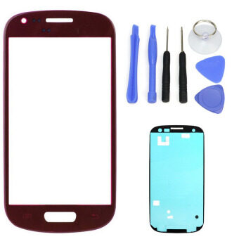 Harga For Samsung Galaxy S3 SIII I9300 I9305 Red LCD Front Touch Screen Glass Outer Lens 4.8'' +Tools+Adhesive