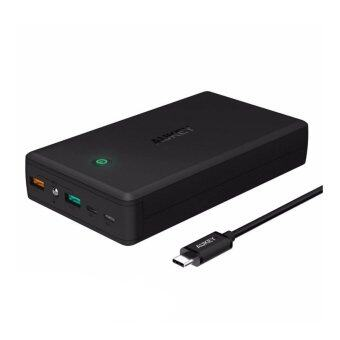 Harga Aukey T11 30000mAh 3A Dual Turbo Quick Charge 3.0 Qualcomm Powerbank AUKEY-PB-T11