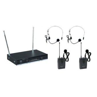 Harga Denn Double Clip Wireless Microphone DM-1811C