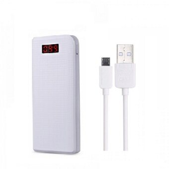 Harga Bundle REMAX Proda Series PowerBank 10000mAh Power Bank (white) + remax safe charging high speed cable