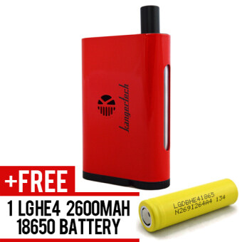 Harga SUPER FAST MARKETING-Kanger Nebox 60WATT (RED) Mod For Vape And Electronic Cigarettes + 1 LGHE4 YELLOW BATTERY