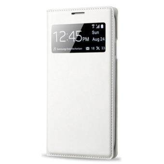 Harga S-View Window Flip Leather Case For Samsung Galaxy S4 IV i9500 White Free shipping