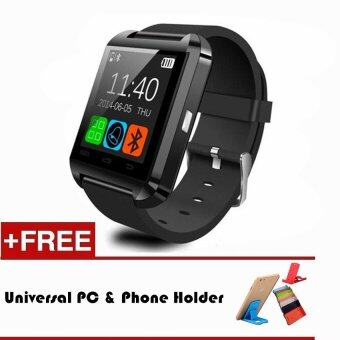 Harga U8 Smart Watch Bluetooth Wrist Watch for iOS Android PK DZ09 GT08(Black)