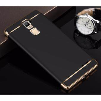 Harga Hybrid 3 In 1 Hard PC Frosted Matte Back Cover Case With Electroplated Frame For OPPO R7 Plus(Black)