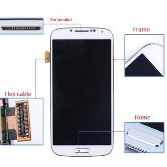 Harga For Samsung Galaxy s4 i9500 i9505 i337 m919 LCD Display With Touch screen Digitizer Assembly+Frame Assembly