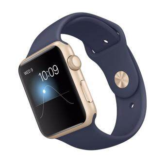 Harga Apple iWatch Series 1 MQ102TH/A 38mm Gold Aluminium case with Midnight blue sport band (1 Year Apple Malaysia Warranty)