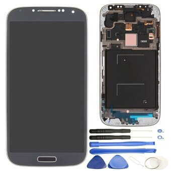 Harga LCD Display + Touch Screen Digitizer Assembly with Frame Replacement for Samsung Galaxy S4 / i9500(Black)