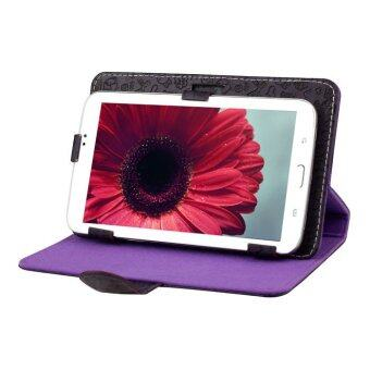 "Harga Universal 7"" Leather Stand Case Folio Cover For 7'' 7 inch Android Tablet PC MID Purple"