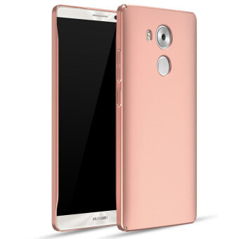 Harga Frosted Matte Hard Plastic Shockproof Protective Phone Case Cover for Huawei Mate 8 Mate8 (Rose Gold)