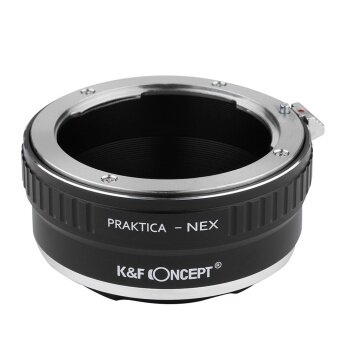 Harga K&F Concept Lens Mount Adapter For Praktica PB Lens to Sony With CAP (Black)