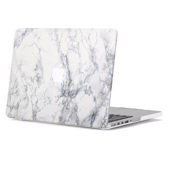Harga Macbook Pro Retina13 inch Case Hard Case Print Frosted for Macbook Pro Retina13 inch (Model: A1502 and A1425) - White Marble Pattern Rubber Coated Hard Shell Cover