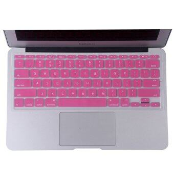 Harga Welink Fashion Silicone US Keyboard Cover Waterproof Keyboard Protector Skin For Apple Macbook Air 11 Inch (Pink)