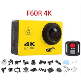 Harga [ LAZADA BIRTHDAY SALES ] 2017 EDITION F60R 4K 30fps 16M Action Sports Camera Cam Remote Shutter Control YELLOW