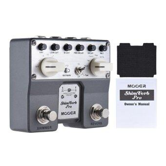 Harga MOOER ShimVerb Pro Digital Reverb Guitar Effect Pedal with Shimmer Effect 5 Reverberation Modes Twin Footswitch