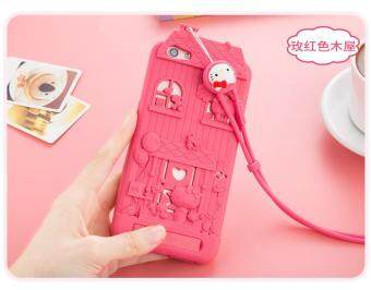 Harga For OPPO R9S Plus 3D Cute Cartoon Fabitoo Hello Kitty Phone Case Soft Silicone Rubber Back Cover With Lanyard