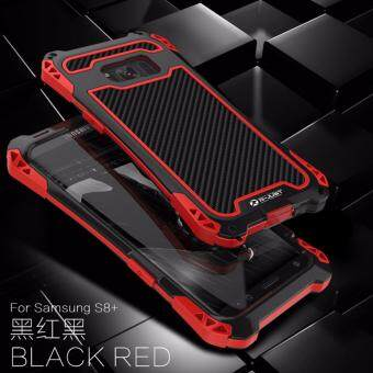 Harga R-JUST Amira 3 Protector Waterproof Shockproof dirt proof Phone case for Samsung Galaxy S8 Plus , Exclusive extreme heavy duty outdoor cover case metal Carbon fiber Black/Red