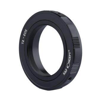 Harga K&F Concept T2-EOS Adapter Ring T2 T mount Mirror Telephoto Lens Telescope to Canon Camera