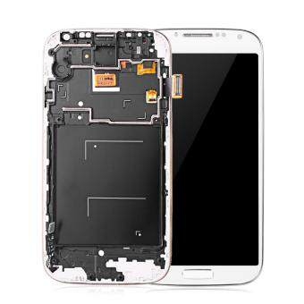 Harga Mobiles Tablets Replacement Parts Replacement Lcd Screen Assembly Frame For Samsung S4 I9500(White)