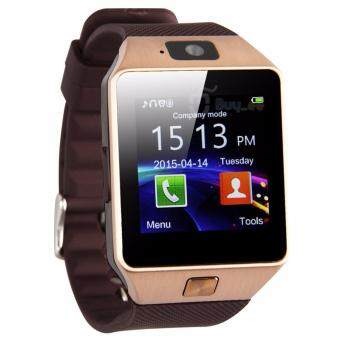 Harga DZ09 Smart Watch Phone YOOME Bluetooth V3.0 Sim Gsm Mobile Watch for Android and IOS (Gold)