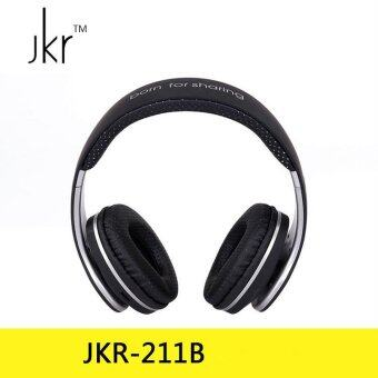 Harga JKR 211B FM Wireless Headphone Bluetooth Headphones with Memory Card slot Music for Mobile Phone with Mic Bluetooth Headset