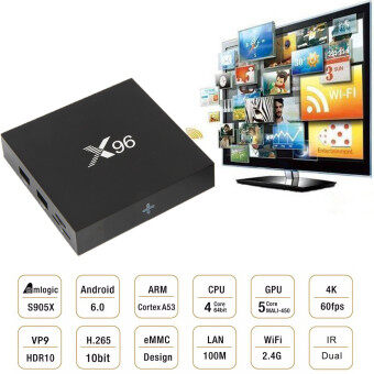 Harga X96 OTT IPTV Android 6.0 S905X 2GB RAM /16GB ROM Quad Core Smart TV BOX