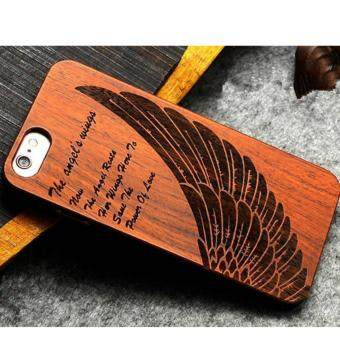 Harga LYBALL Luxury Natural Wooden Wood Bamboo + PC Case For iPhone 5 5s Hard Back Cover