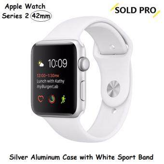 Harga Apple Watch Series 2 Silver Aluminum Case with White Sport Band 42MM (US SET)