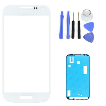 Harga White Replacement LCD Front Touch Screen Glass Outer Lens For Samsung Galaxy S4 i9500 i9505 +Tool Kits + Sticker