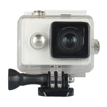 Harga Kingma 60M Diving External Backup Waterproof Cover Case Housing for Xiaomi Xiaoyi Yi Action Sports Camera (White)