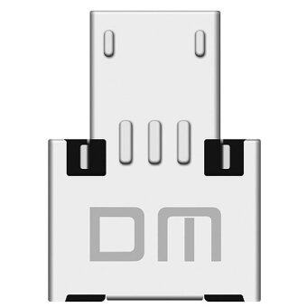 Harga DM USB Flash Drive To Otg Adapter Silver USB And Micro USB adapter