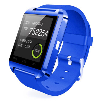 Harga Bluetooth Wrist Watch U8 Smart Watch for iOS and Android Smartwatch (Blue)