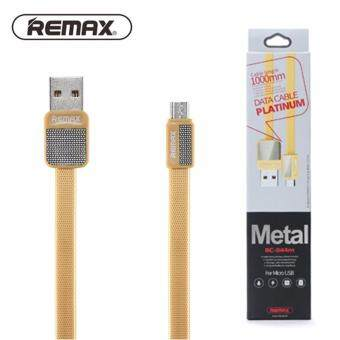 Harga Remax Metal Series RC044M 2.1A Fast Charge Micro USB Cable - 100% Original REMAX Cable - Gold