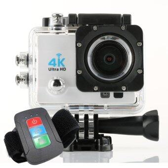 Harga Q3H 4K Wifi Action Camera Sport Video Camera Full HD 170D Lens 4K Helmet Cam Diving 30m Waterproof Action Camera + Remote (White)