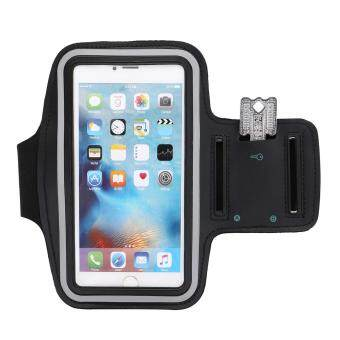 Harga L-JUWA Water Resistant Sweat Proof Sports Armband with Key Holder for iPhone 6PLUS 6S Plus 7Plus(Black)