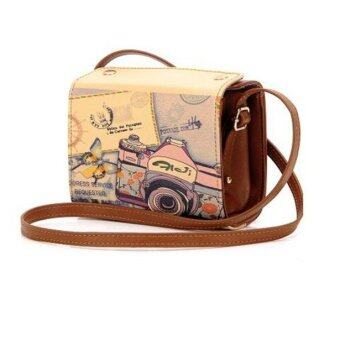 Harga Leather Camera Bag for Fujifilm Instax Mini 7s Mini 8 Mini 25 (Brown) - Intl