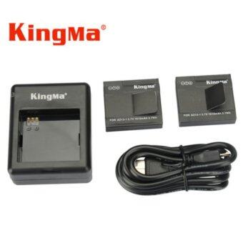 Harga (Genuine) KingMa Xiaomi Yi XiaoYi Action Camera Battery Pack 1010mAh Battery x 2 Pcs + Dual Battery Charger