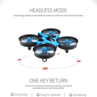 Harga The Best Quality New Small Spirit 2.4G 6 Axis Gyro Mini Drone(Blue)