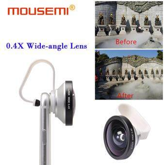 Harga Universal Clip Super Wide 0.4x Lenses Wide-Angle Lens For Cell Mobile Phone 0.4X Wide Angle Lenses for iPhone 5s 6s 7 Smartphone