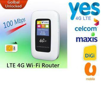 Harga 100Mbps Mobile Hotspot Pocket Unlock Mini 4G WiFi MiFi 4G Wi-Fi Modem for Celcom,Maxis,Digi,Yes 4G