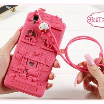 Harga Fabitoo Kitty lucky Fashion Personality creativity Case cover for Oppo R7S(Rose Red)