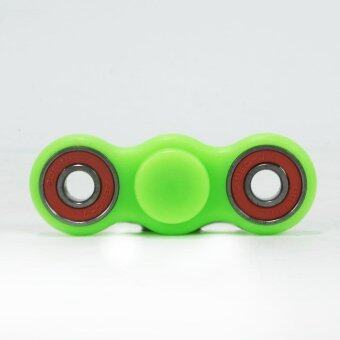 Harga EDC Fidget Spinner Toy Glowing Hand Spinner Perfect For ADD, ADHD, Anxiety, and Stress Relief (Fluorescent green)