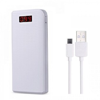 Harga (Bundle)REMAX Proda Series PowerBox 30000mAh Power Bank (white) + remax safe charge high speed data cable