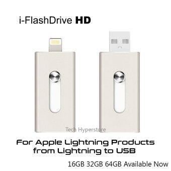 Harga i-FlashDrive HD Portable 32GB OTG Drive for Apple iPhone Lightning to USB with 2 in 1 Connector (Silver)