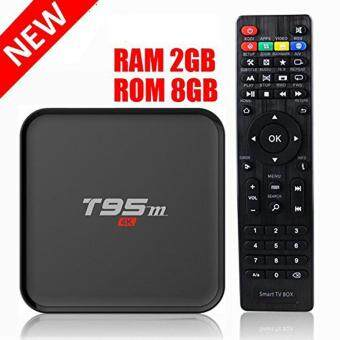 Harga T95M 2G/8G Android 5.1 Smart TV Box Amlogic S905X Quad Core with 2.4G Wifi 100M Ethernet LAN 4K HDMI 3D OTT TV Media Player